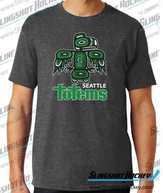 Seattle-totems-charcoal-heather-grey-hockey-tshirt