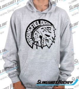 Springfield-Indians-heather-grey-hockey-hoodie