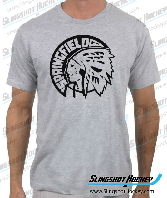 Springfield-Indians-heather-grey-mens-hockey-shirt