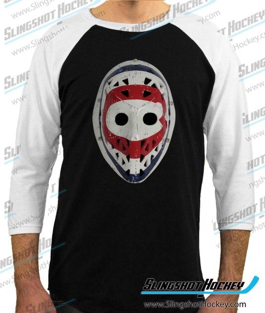 Ken-Dryden-Montreal-Goalie-Mask-raglan-white-sleeve-black-body