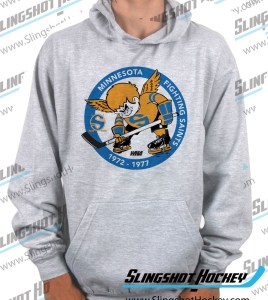 Minnesota-Fighting-Saints-heather-grey-hockey-hoodie