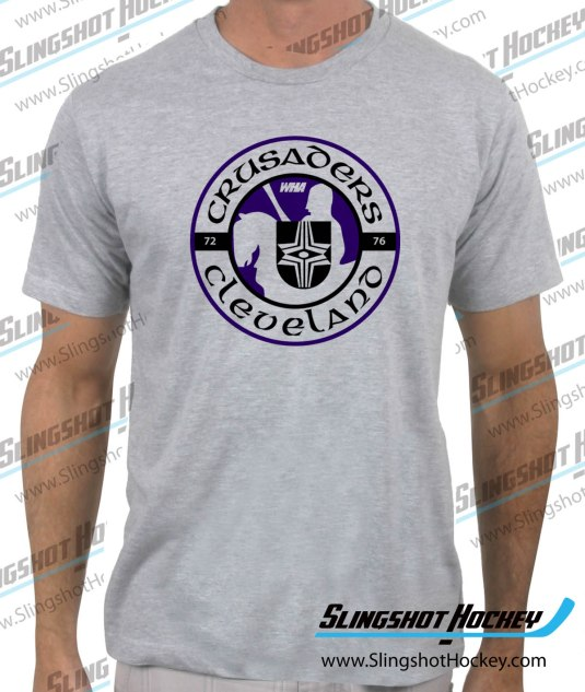 Cleveland-Crusaders-heather-grey-hockey-tshirt