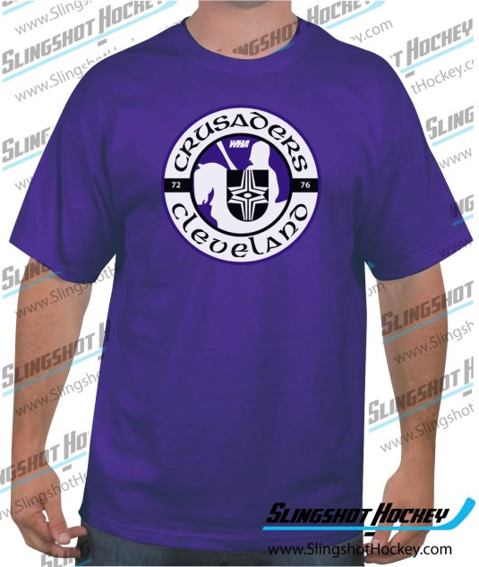 Cleveland-Crusaders-purple-hockey-tshirt