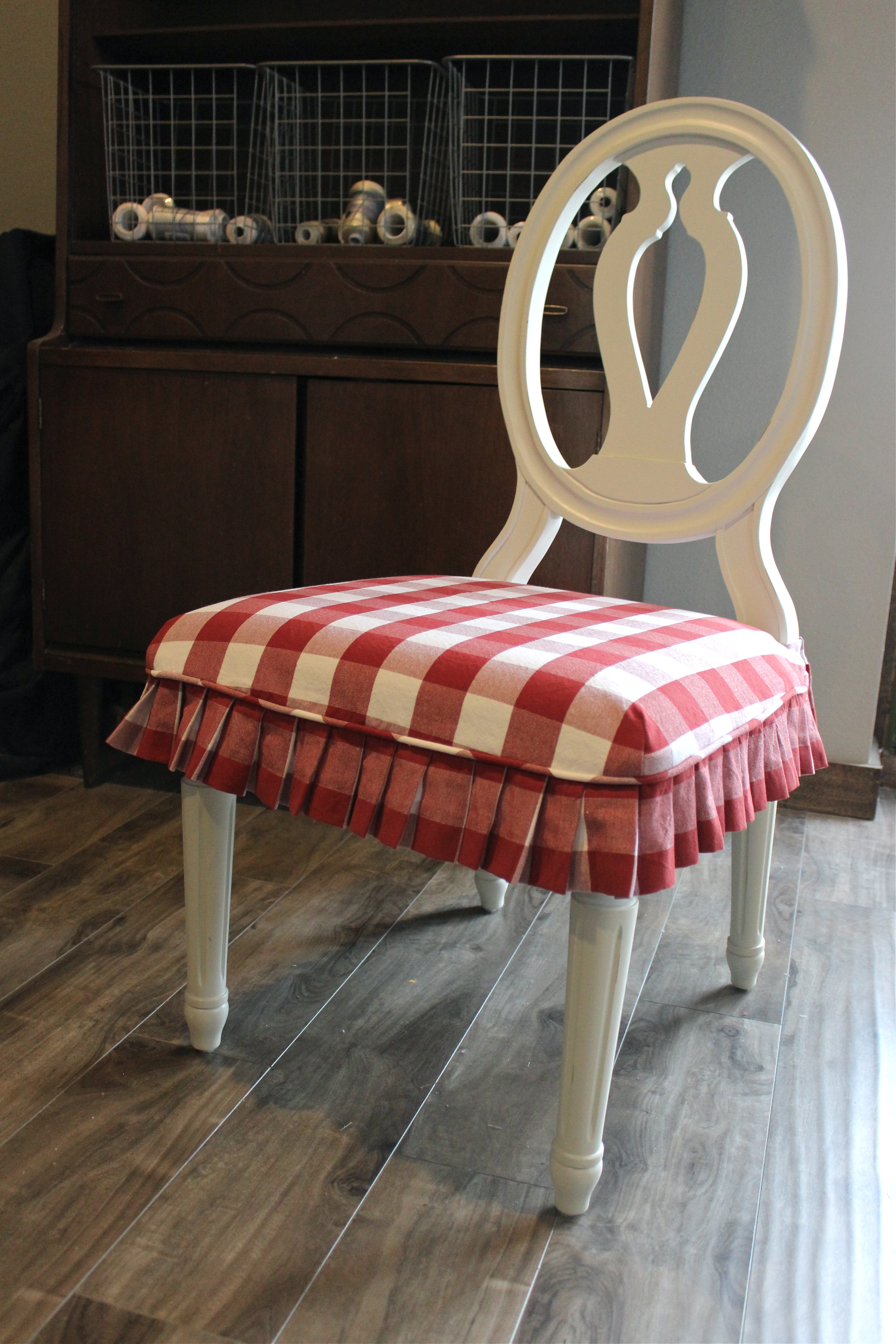 Red And White Buffalo Check Slipcovers