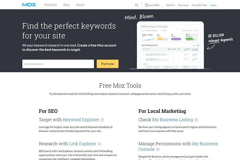 Moz Inbound Marketing Tools
