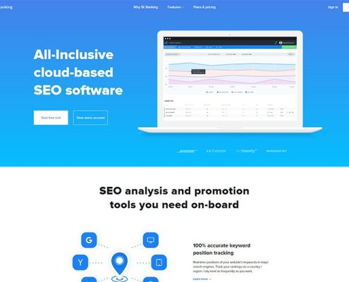SE Ranking - some of the best SEO tools available