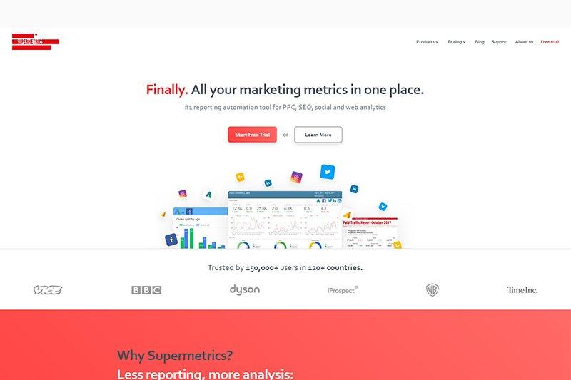 Supermetrics marketing reporting software