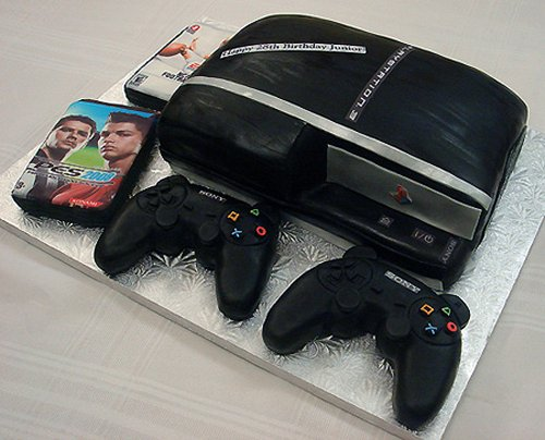 PlayStation 3 cake is not slim, tastes delicious