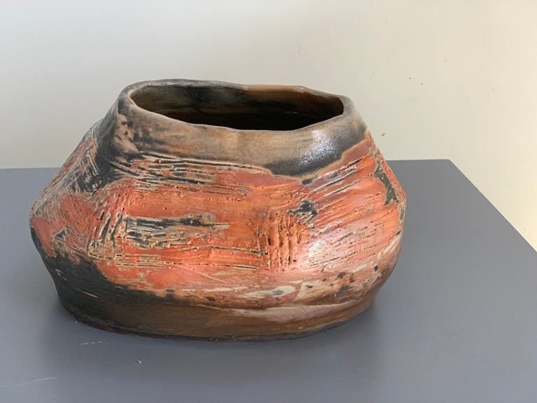 An experiment with slip, Shino and reduction firing