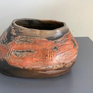 short pottery vase