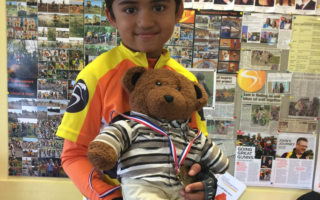 Zayd Shows Sammy the Teddy Bear Around Slipstreamers