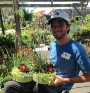 custom planter with Adin