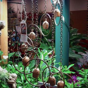 Whimsical bell chimes (we have rain chains too!)