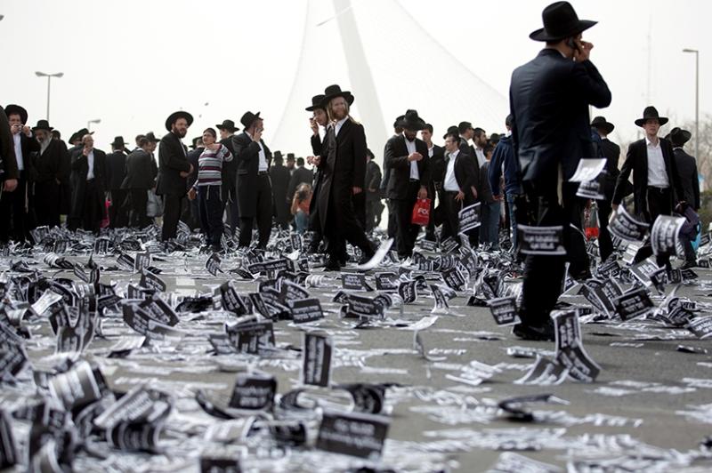 ISRAEL-RELIGION-JUDAISM-MILITARY-DEMO