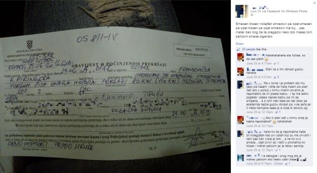 kazna osijek krim policija mladić facebook