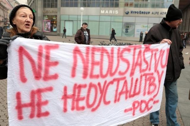 pokret occupy hrvatska Marijana Mirt branitelji prosvjed protiv branitelja savska 66