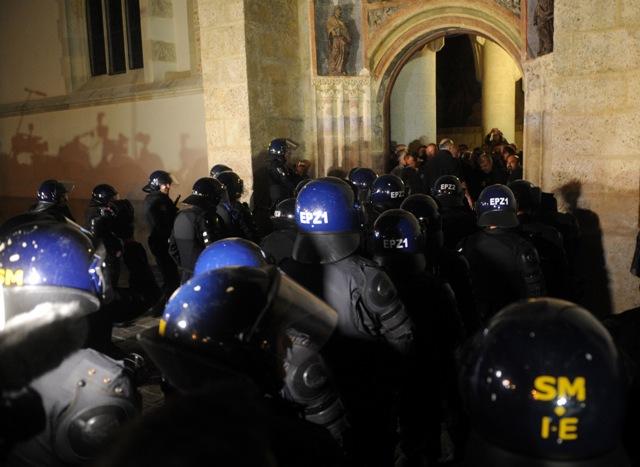 branitelji invalidi prosvjed markov trg crkva policija napad