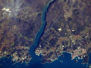 limski kanal rovinj astronaut satelitska snimka