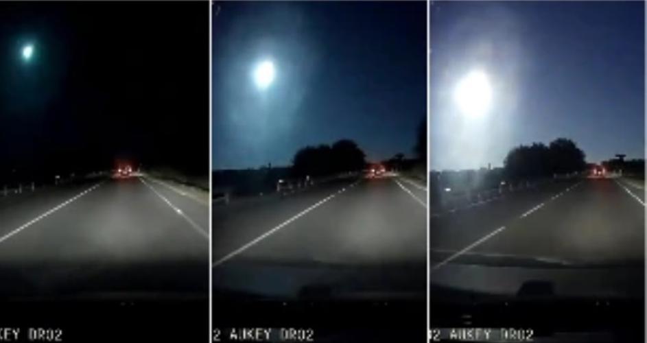 ЈА ПРЕТВОРИ НОЌТА ВО ДЕН: Метеорит го проби небото над Медитеранот