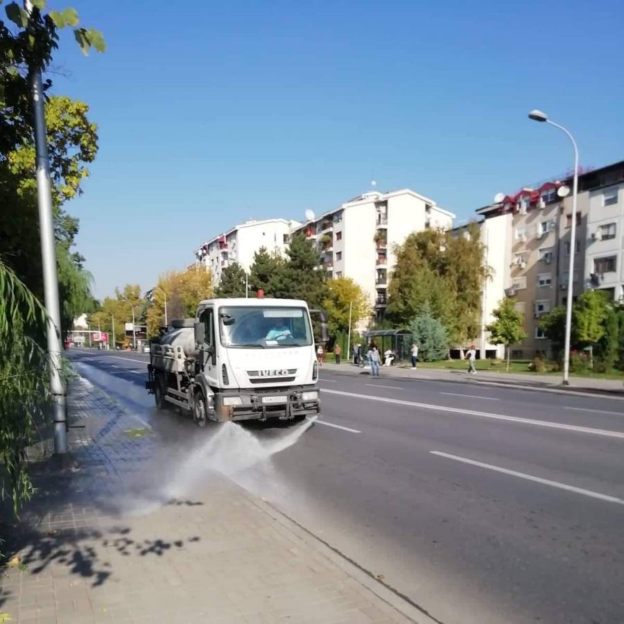 """ЈП """"Комунална хигиена"""" генерално ја чисти Општина Кисела Вода"""