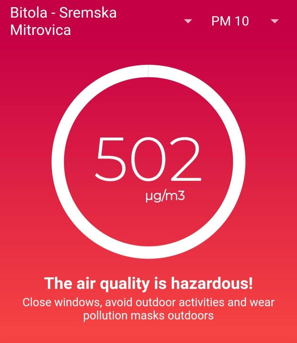 Вечерва најзагадено во Скопје, Струмица, Битола и Куманово