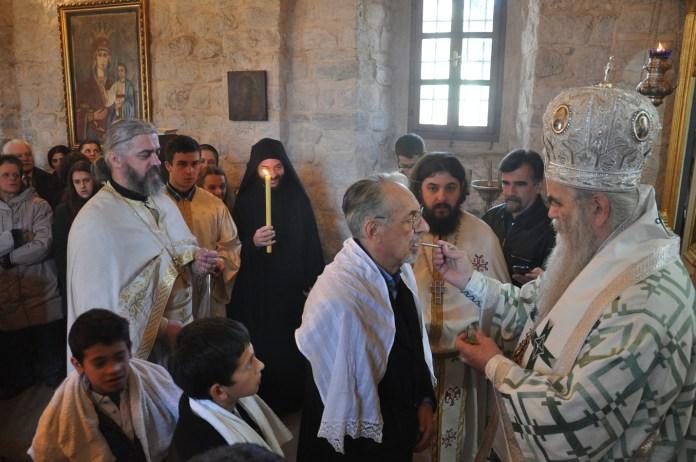 32. Sa krsstenja Mahmuta Bussatlije u dvorskoj crkvi na Cetinju