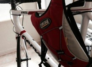 Camelbak backpack on cervelo RS
