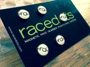 5-pack of Racedots bib magnets