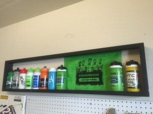 DIY Display for your Pro Cycling Team Water Bottles