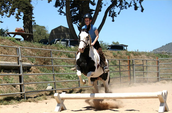 Kirsten Finberg and Gracie - Jumping