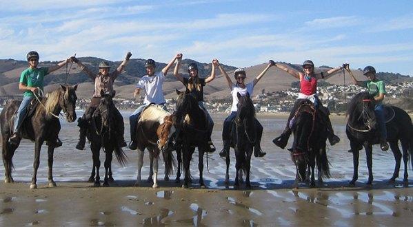 Bev and Crew on Pismo Beach