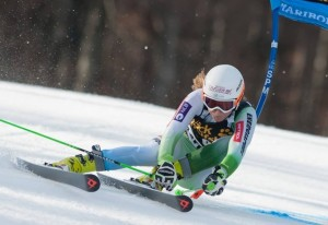 Drev swung to second from 6th to finish ahead of Tina Weirather from Liechtenstein (Photo: Feel Slovenia Facebook)