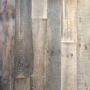 Eiken sloophout stalen frame tafel