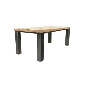 Stalen frame tafel poten stalen frame houten blad