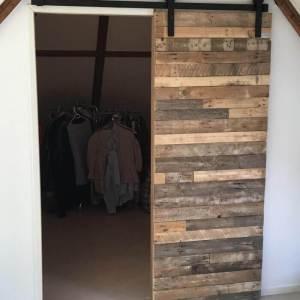 Sloophout deur