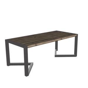 Industrieel stalen punt frame voor houten tafel