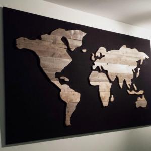 Wereldkaart sloophout