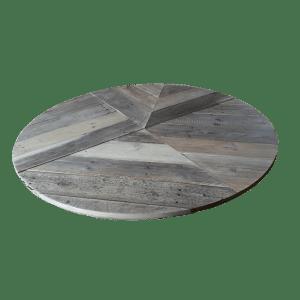 4.3 Rond horeca tafelblad sloophout artistiek