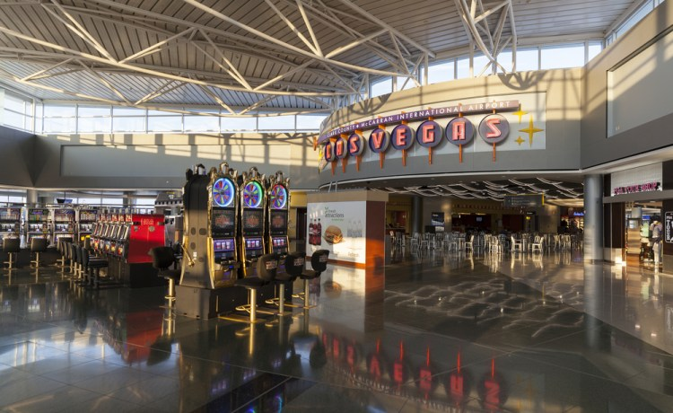 Las Vegas casino in airport