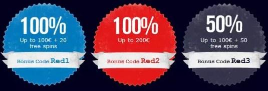 Redbet 3 bonuses