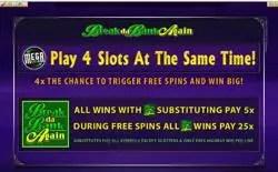 play 4 slots break da bank 250