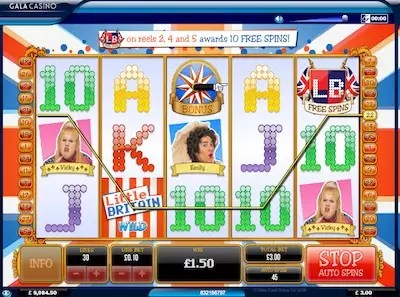 Little Britain slot reels