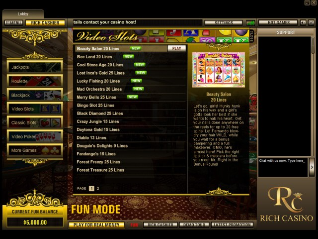 Rich Casino Lobby - Click to Play