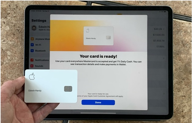 How to add Apple Card to iPad?