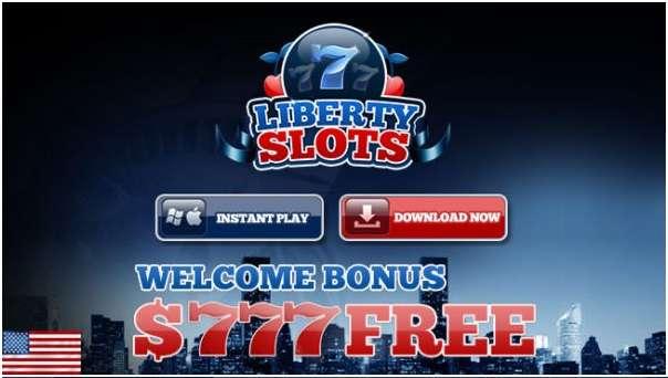 $777 free welcome bonus at Liberty Slots