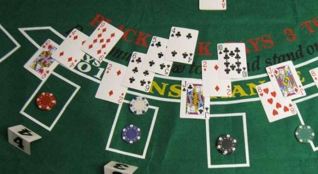 Sitting mid-shoe in blackjack