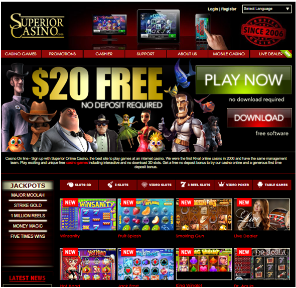 Superior Casino slots on iPhone