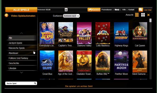 Casino King Game Lobby