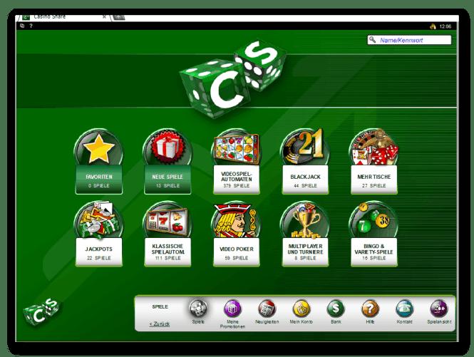 Casino Share Game Lobby Screenshot