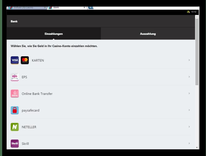Virtual City Casino Kassierer Screenshot